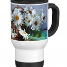 Flower Daisy Daisies Travel Coffee Mug Cup White Aluminum