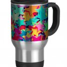 Colorful Stars Travel Coffee Mug Cup Stainless Aluminum