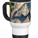 Love in Rocks Travel Coffee Mug Cup White Aluminum