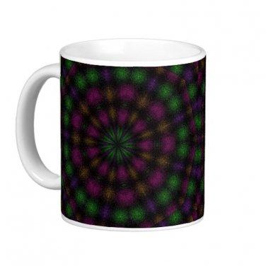 Black Abstract kaleidoscope Coffee Mug Cup