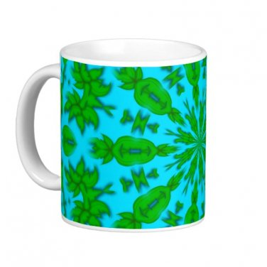 Green and Blue Abstract kaleidoscope Coffee Mug Cup