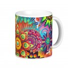 Floral Flower Abstract kaleidoscope Coffee Mug Cup