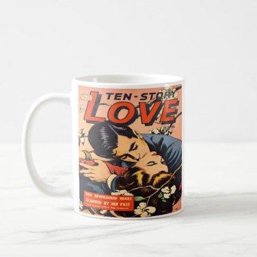 Vintage Romance Love Comic Book Design Coffee Mug Cup
