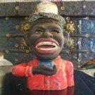 Black Americana Original Jolly N Bank w/ High Hat - John Harper & Co. Ltd circa 1890-1920