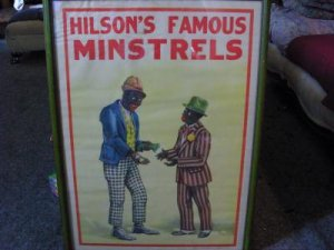 Black Americana - Hilson's Famous Minstrels Poster - Framed - AUTHENTIC, NOT A REPRINT