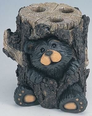 Northwoods Bear Toothbrush Holder