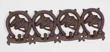 Horseshoe Cast Iron Coatrack