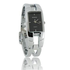 KIMID 1601 Stainless Steel Quadrate Bracelet Lady's Electronic Wrist Watch