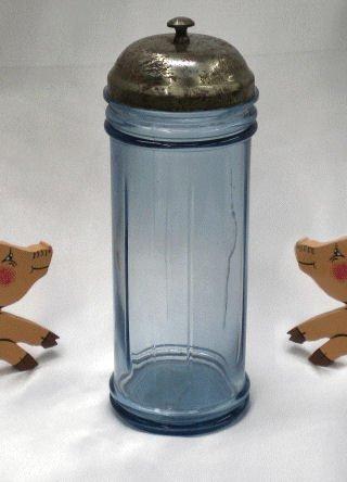 Blue Glass Straw Holder
