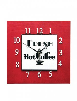 Retro Diner Style Coffee Clock
