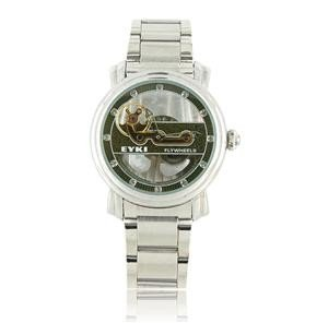 EYKI W8413G Hollow-Out Design Stainless Steel Men's Automatic Mechanical Wrist Watch (Green)