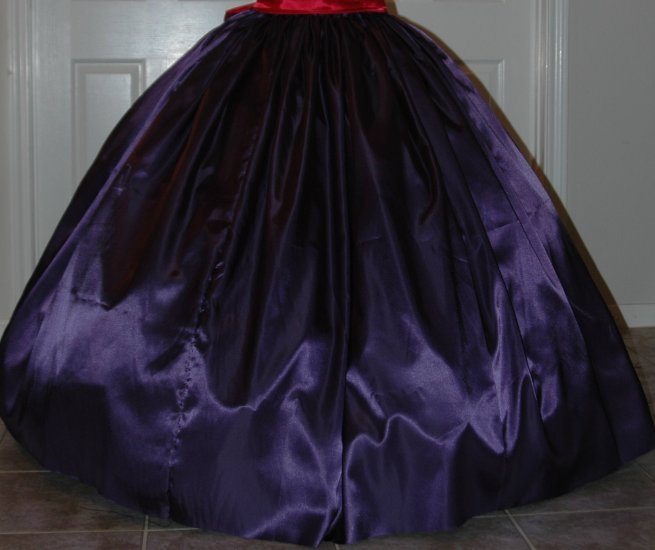 Reenactment Costume Long SKIRT Most Colors, Satin Pioneer, Colonial, Victorian, Renaissance