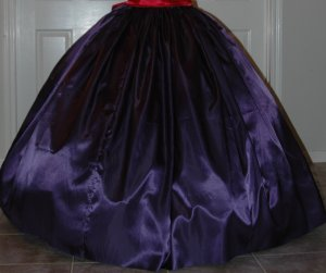 Reenactment Costume Long SKIRT Most Colors, Satin Pioneer, Colonial, Victorian, Renaissance