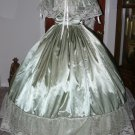 Civil War Ball Gown Reenacting Dickens Victorian Dress Your Choice of Color and Ivory Lace
