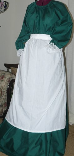 Little House Prairie Dress Civil War Ladies CUSTOM You choose size &  fabric (assorted fabrics)