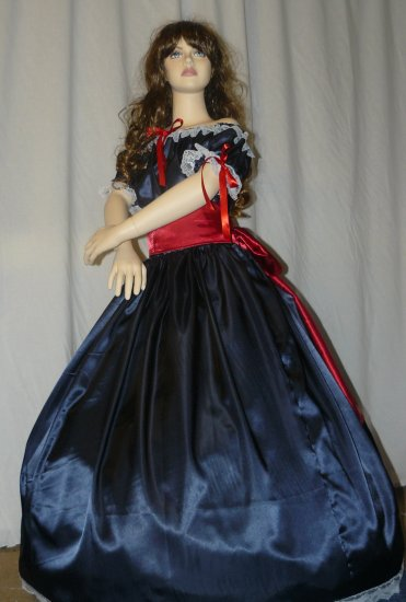 Civil War Ball Gown Reenacting Dickens Victorian Dress Girls Sizes