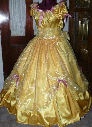 Princess Belle Civil War Junior Ladies Gown Reenacting Victorian Dress Organza Ruffle, Other Colors