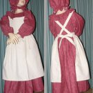 Civil War Reenactment Little Girls Prairie Dress Sizes and Colors Available