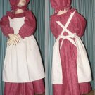 Civil War Reenactment Girls Prairie Dress Sizes and Colors Available