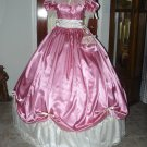 Civil War Ball Gown Reenacting Dickens Victorian Dress Custom Colors Lace Underskirt