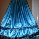 Ruffle Civil War Saloon Reenactment Ladies Girls Ball Gown Skirt Sizes, Styles and Colors available