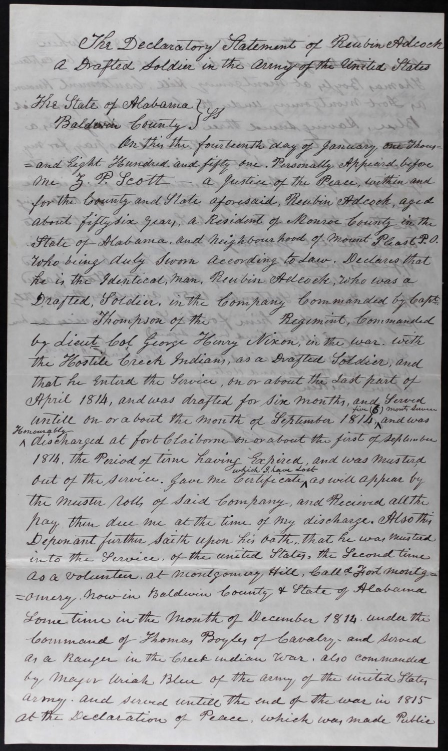 Genealogy Family History Research National Archives War 1812 Civil War Service Pension Records