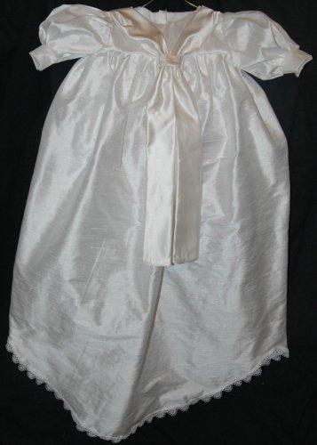 Custom Christening Baby Infant Baptism Gown Bonnet Hat Cotton Satin Style 4