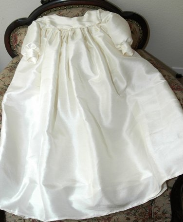 Custom Christening Baby Infant Baptism Gown Bonnet Hat Cotton Satin Style 5