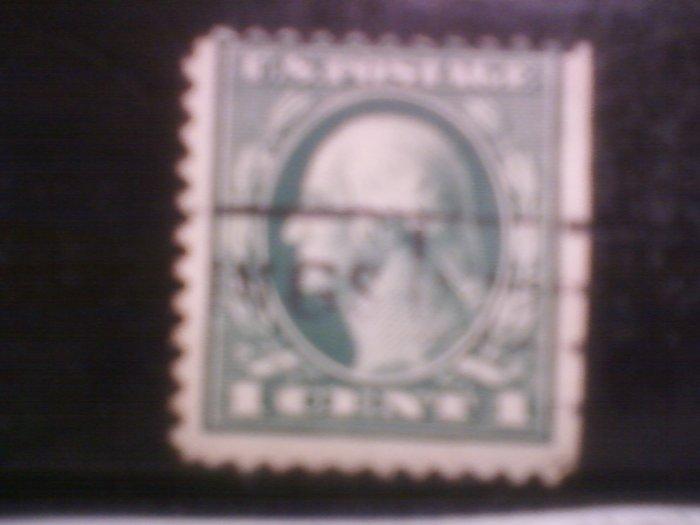 1 cent green washington