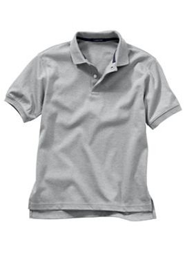 Kid's S/s grey polo shirt