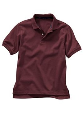 Kid's S/s burgundy polo shirt