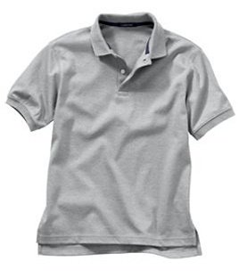 Adult Unisex Grey S/S Polo Shirt