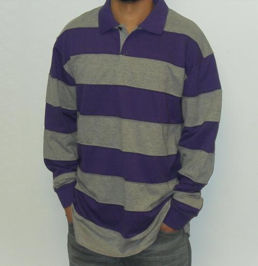 Remixed - LS Polo Shirt - Purple/Grey