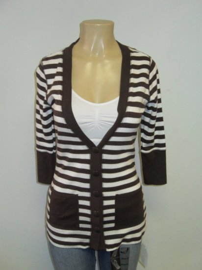 Anxiety - Cardigan - Brown/white