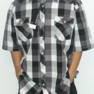 KOMAN - S/S Button Down - Black/White/Grey
