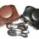 Panasonic GF1 camera leather case bag  in black or brown