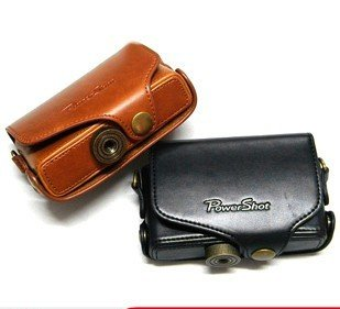 Canon PowerShot SX210 is leather case bag in black or brown