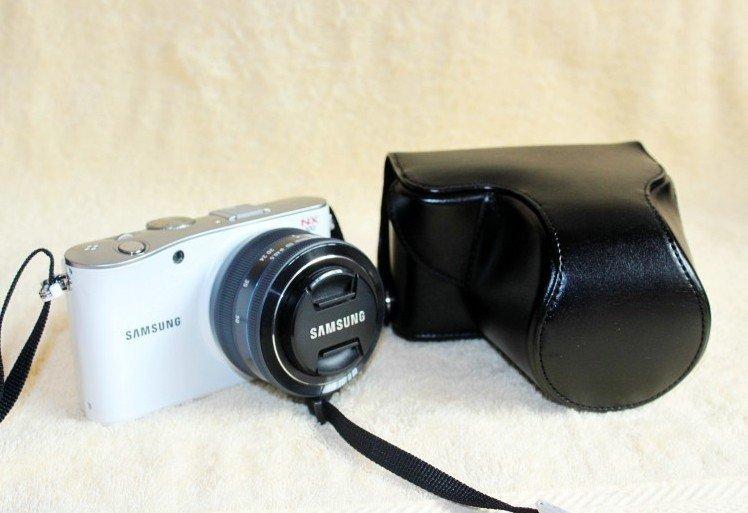leather case bag for Samsung NX100 NX-100 digital camera