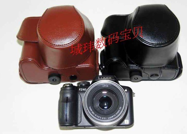 leather case bag for Panasonic Lumix DMC-FZ40 digital camera