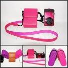 Camera leather case  bag for Samsung AQ100 ES25 ES71 ES30 PL210 PL20