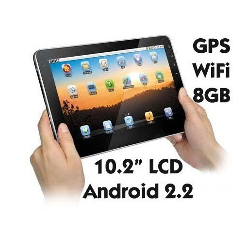"""10.2"""" MID iPed Android 2.2 1GHz CPU 8GB Storage GPS"""