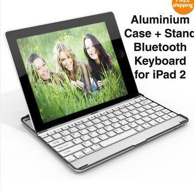 iPad 2 Aluminum Bluetooth Keyboard Case