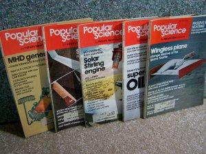 Popular Science Magazines - April -August 1978