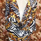 Multi Zebra Print Dress Size Small
