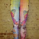 Multi Print Leggings Large 10-12