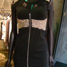 Black and gold Beaded Dress