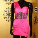 Hot Pink Corset Dress