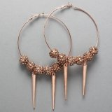 Copper rhinestone Hoops with Spikes