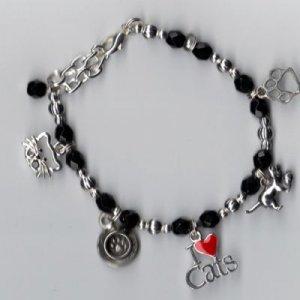 Cats Charm Bracelet