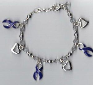 Alzheimers Awareness Charm Bracelet